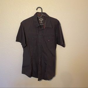 Vintage Guess Brown Button Down Shirt S